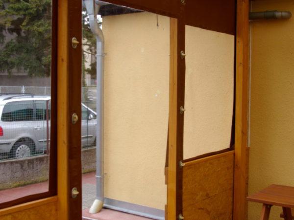 Zastrřešení restaurace typ Tonda Ekonomik detail dveří