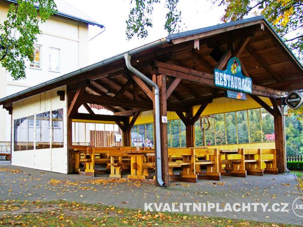 Zastřešení restaurace penzion Zvoneček Vysoká Lípa